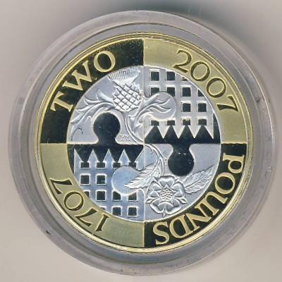 2 Pfund 2007 Acts Of Union 300 Vereinigtes Königreich Münzen