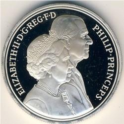 Moneta > 5sterline, 1997 - Regno Unito  (Anniversario delle nozze d'oro della regina) - obverse