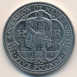 Moneta > 5sterline, 2009 - Regno Unito  (500th Anniversary - Accession of Henry VIII) - reverse