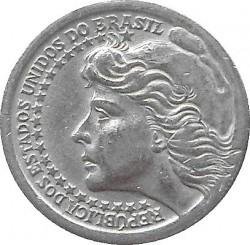 Coin > 50cruzeiros, 1965 - Brazil  - obverse