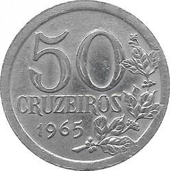 Coin > 50cruzeiros, 1965 - Brazil  - reverse