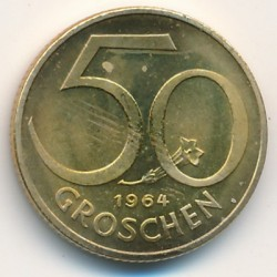 سکه > 50گروشن, 1964 - اتریش   - obverse