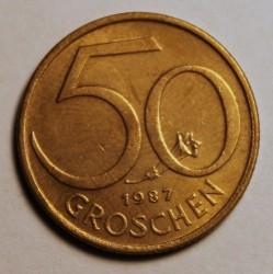 سکه > 50گروشن, 1987 - اتریش   - reverse