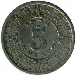 Νόμισμα > 5Σεντάβος, 1936-1942 - Μεξικό  - reverse