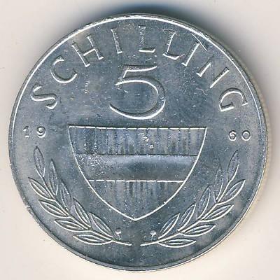 5 Schilling 1960 1968 österreich Münzen Wert Ucoinnet
