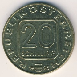 Moneta > 20szylingów, 1995 - Austria  (1000 lecie Krems) - obverse