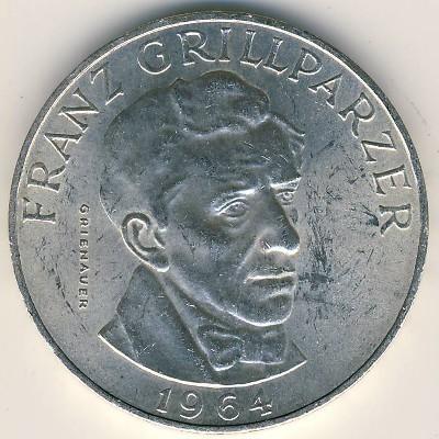 25 Schilling 1964 Franz Grillparzer österreich Münzen Wert