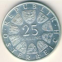 Moneda > 25chelines, 1971 - Austria  (200º Aniversario - Bolsa de Viena) - obverse