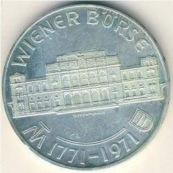 Moneda > 25chelines, 1971 - Austria  (200º Aniversario - Bolsa de Viena) - reverse
