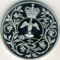 Moneda > 25peniques, 1977 - Reino Unido  (25 aniversario de la coronación de la Reina Isabel II) - reverse