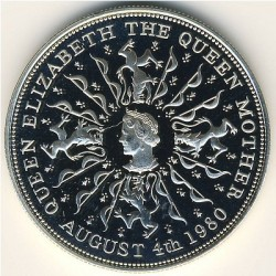 Moneta > 25pence, 1980 - Regno Unito  (80° Anniversario - Nascita della Regina madre) - obverse