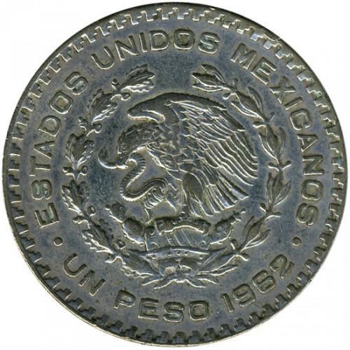 1 Peso 1962 Mexico Coin Value