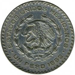 Монета > 1песо, 1957-1967 - Мексика  - obverse
