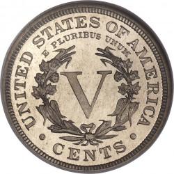 Moneda > 5centavos, 1883-1912 - Estados Unidos  (Nickel Libertad) - reverse