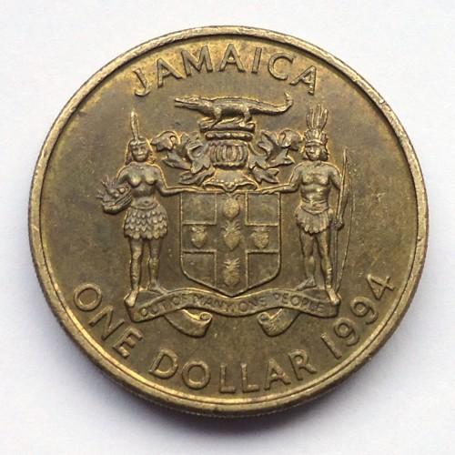 Coin 1 Dollar 1993 1994 Jamaica Obverse