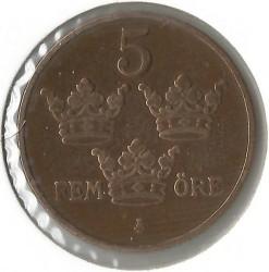 العملة > 5إيري, 1914 - السويد  - reverse