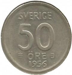 Mynt > 50øre, 1952-1961 - Sverige  - reverse