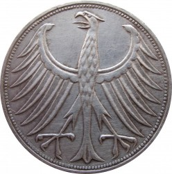 Coin > 5 mark, 1951-1974 - Germany  - obverse