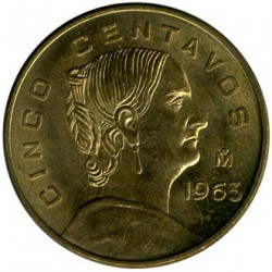 Moneda > 5centavos, 1954-1969 - México  - obverse
