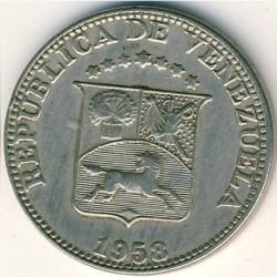 Münze > 12½Centimos, 1958 - Venezuela  - obverse