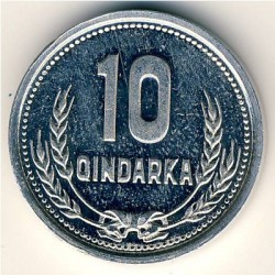 Coin > 10qindarka, 1988 - Albania  - obverse