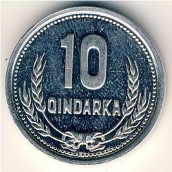 Coin > 10qindarka, 1988 - Albania  - reverse