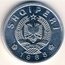 Moneda > 20qindarka, 1988 - Albània  - obverse