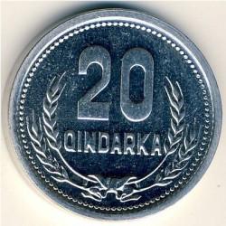Moneda > 20qindarka, 1988 - Albània  - reverse