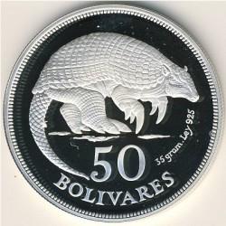 Moneda > 50bolívares, 1975 - Venezuela  (Unión Internacional para la Conservación de la Naturaleza y de los Recursos Naturales) - reverse
