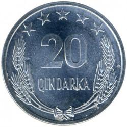 سکه > 20کیندارکا, 1964 - آلبانی  - reverse