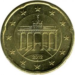 Монета > 20євроцентів, 2007-2018 - Німеччина  - obverse