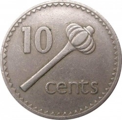 Monēta > 10centu, 1969-1985 - Fidži  - reverse
