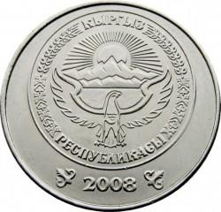 Mynt > 1som, 2008 - Kirgisistan  - obverse
