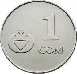 Mynt > 1som, 2008 - Kirgisistan  - reverse