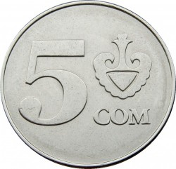 Moneta > 5somów, 2008 - Kirgistan  - reverse
