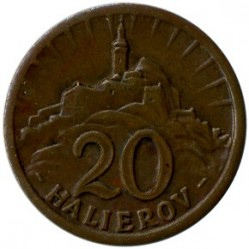 Münze > 20Heller, 1940-1942 - Slowakei   - obverse