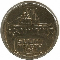 Coin > 5markkaa, 1989 - Finland  - reverse