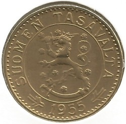 Münze > 20Mark, 1955 - Finnland  - obverse
