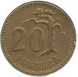 Münze > 20Mark, 1955 - Finnland  - reverse