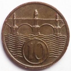 Кованица > 10хелера, 1922-1938 - Чехословачка  - reverse