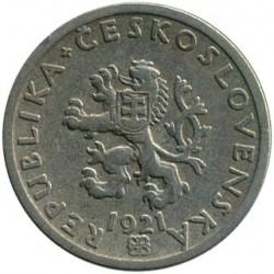 Moneda > 20hellers, 1921-1938 - Checoslovaquia  - obverse