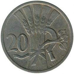 Moneda > 20hellers, 1921-1938 - Checoslovaquia  - reverse