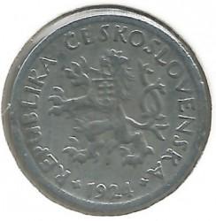 Кованица > 2хелера, 1923-1925 - Чехословачка  - obverse