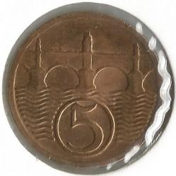 Кованица > 5хелера, 1927 - Чехословачка  - reverse