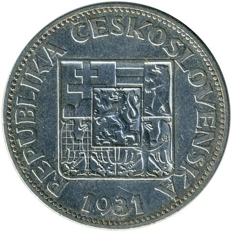 10 Kronen 1930 1933 Tschechoslowakei Münzen Wert Ucoinnet