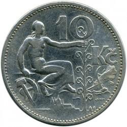 Νόμισμα > 10Κορούν(Κορώνες), 1930-1933 - Τσεχοσλοβακία  - reverse