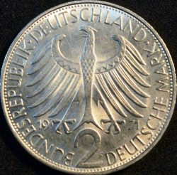 Coin > 2 mark, 1971 - Germany  (Max Planck) - obverse