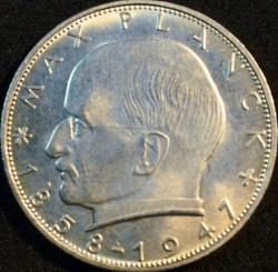 Coin > 2 mark, 1971 - Germany  (Max Planck) - reverse