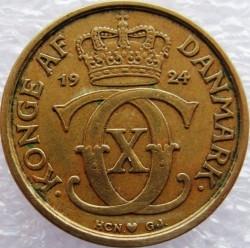 Coin > ½krone, 1924-1940 - Denmark  - obverse