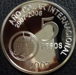 Moneta > 5pesos, 2007 - Argentyna  (Międzynarodowy Rok Polarny) - reverse